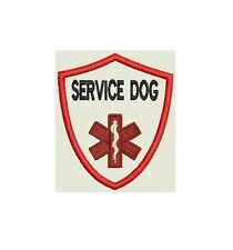 Service Dog Patch Shield Custom Embroidered tag, badge