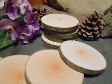 """Birch...50  count   3""""  Wood Slices for crafts/weddings"""