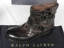 NEW Mens Ralph Lauren GARETT Dark Brown Cordovan Ankle Boots UK 6 E RRP £695