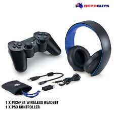 NEW Sony Wireless PS3 Controller + Playstaion 3 PS4 PS Vista Genuine Headset