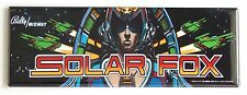Solar Fox Marquee FRIDGE MAGNET (1.5 x 4.5 inches) arcade video game header