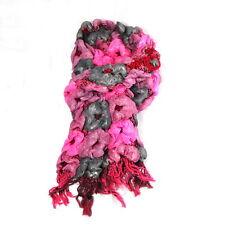 NEU 160x20cm Luxus SCHAL pink/rosa BLUMEN Blüten CRASHSCHAL Blumenmuster BLÜTE