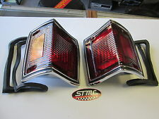 1970 1971 1972  EL CAMINO NEW PAIR OF TAIL LIGHT BEZEL CHROME HOUSINGS WITH LENS