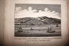 ALGERI,C. Cooke a Londra, circa 1775.veduta della citta' dal mare.AFRICA