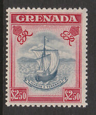 GRENADA 1951 $2.50 WITH VALUE TABLET RE-ENTRY CW 39a MINT.