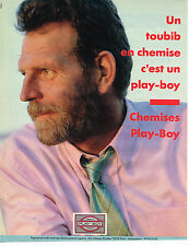 PUBLICITE ADVERTISING 054 1986  UN TOUBIB en chemise PLAY-BOY