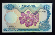 $50 Singapore note ( orchid series) #  549
