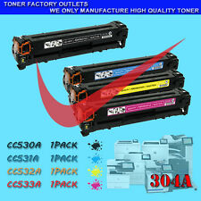4PK 304A CC530A CC531A CC532A CC533A Toner For HP Color LaserJet CM2320n