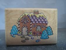 "CHRISTMAS GINGERBREAD HOUSE RUBBER STAMP SEASON HOLIDAY 2.5"" x 1.75"""