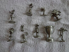 9 Looney Tunes Monopoly Game metal Pieces