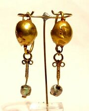 BOUCLES D'OREILLE ROMAINE EN OR 1° S. AP JC - 100 AD ANCIENT ROMAN GOLD EARRINGS