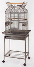 Open Dome Top Wrought Iron Cage For Small Parrot Bird With Removable Stand - 379