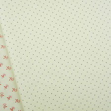 American Jane Pin Dots Cream Fabric / Moda quilting vintage ivory micro