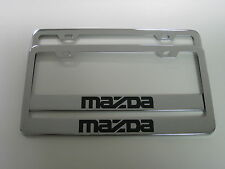 (2) MAZDA Stainless Steel CHROME LICENSE PLATE FRAME