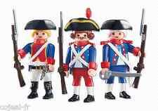 PLAYMOBIL lot 3 soldat de la garde royale française gendarme français NEUF 6436
