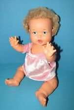 "IDEAL 1973 RUB A DUB BABY DOLL BLONDE HAIR BLUE EYES 16""  L@@K"