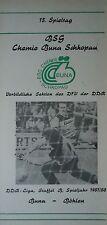 Programma 1987/88 BSG Chemie Buna Schkopau-Chemie Böhlen