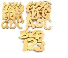 En bois alphabet modèles Majuscules Minuscules lettres & Numéros style de Script