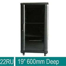 "22U 22RU 19"" 19 Inch 600mm Deep SERVER comms Data Rack server CABINET 4 FANS"