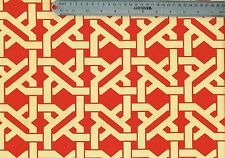 8 Yards Mill Creek Fabric Red Yellow Geometric  Outdoor Drapery Upholstery