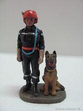 DelPrado Feuerwehr Zinnfigur Rescue and dog Fireman Frankreich 2002  #17577#