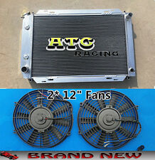 3ROW Aluminum Radiator & 2* Fans for 79-93 FORD MUSTANG 82 83 84 85 86 87 88 89
