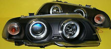 Angel Eyes Headlights front lights for BMW E46 Limo / Touring  in Black 98-01