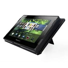 BLACK LEATHER CASE COVER STAND FOR BLACKBERRY PLAYBOOK