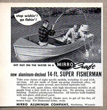 1963 Print Ad Mirro Craft 14 Ft Super Fisherman Aluminum Boats Manitowoc,WI