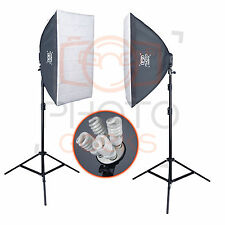 1200w Continuous Soft Box Lighting Studio Kit - Photography Softbox Photo