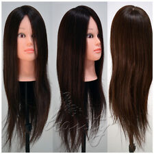 High Quality 100% Real Long Hair Practice Mannequin Hairdressing Training Head