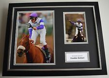 Frankie Dettori SIGNED FRAMED Photo Autograph 16x12 display Horse Racing AFTAL