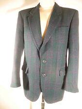 CERRUTI Sakko Lambswool Gr 48 Jacket Karo grün blau schwarz rot weicher Stoff