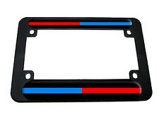 Thin Red Blue Line - Police Firefighter Motorcycle License Plate Tag Frame