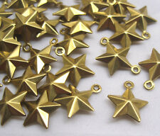 Pentagram Charms Five-Pointed Star Raw Brass Filigree Findings bf102 (22pcs)
