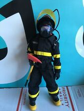 "GI Joe Firefighter 12"" Doll with Outfit Articulated Body"