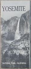 1962 Yosemite National Park California CA vintage travel brochre and map b