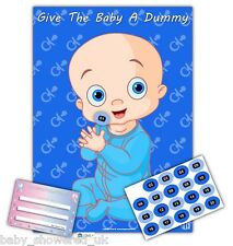 Baby Shower Party Games / GIVE THE BABY A DUMMY /  BLUE / 20 players  /  A2 size