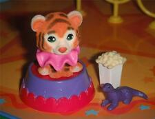 Dollhouse Miniature Carnival Accessories Tiger Figurine, Dinosaur Toy & Popcorn