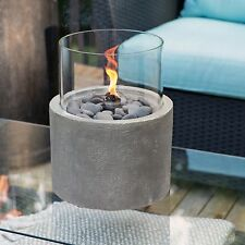 Red Ember Kona Tabletop Firebowl in Cement Color