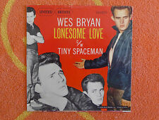 WES BRYAN Lonesome Love 45 rpm PICTURE SLEEVE ONLY United Artists 1957