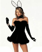 Playboy Bunny Fluffy Complete Costume - One Size (AU 8 -12)