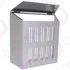 Sterling Letter Box Cage Steel Front Door Post Mail Catcher Dog Security Silver