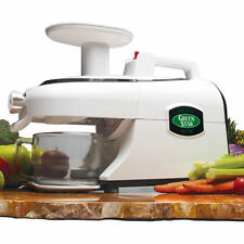 Green Star Elite GSE-5000 Entsafter, Saftpresse, Slow Juicer Weiß