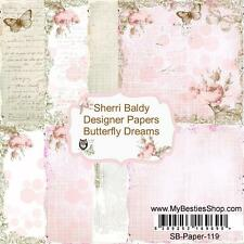 "NEW My-Besties SCRAPBOOK PAPER PACK SET 6 X 6""  free us ship BUTTERFLY DREAMS"