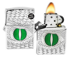 Zippo 28807 Armor Dragon Eye Deep Carved High Polish Chrome Finish Lighter New