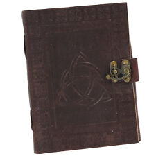 Celtic Triquetra Handmade Medieval Leather Blank Journal