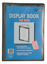 Premium Quality Presentation Display Book Folder Portfolio Black In A5 SIZE
