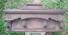 Antique Rustic Wood Coat hat rack Pan Vintage art deco Primitive country Salvage
