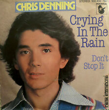 "7"" 60s CV EVERLY BROTHERS 1981 MINT-? CHRIS DENNING : Crying In The Rain"